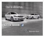 Anuncio de mercedes Benz en Yahoo